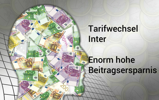Tarifwechsel Inter - Enorm hohe Beitragsersparnis durch PKV-Optimierung
